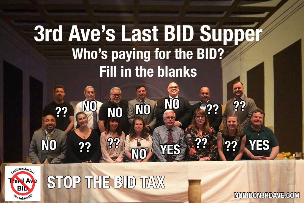 who pays for 3rd ave BID